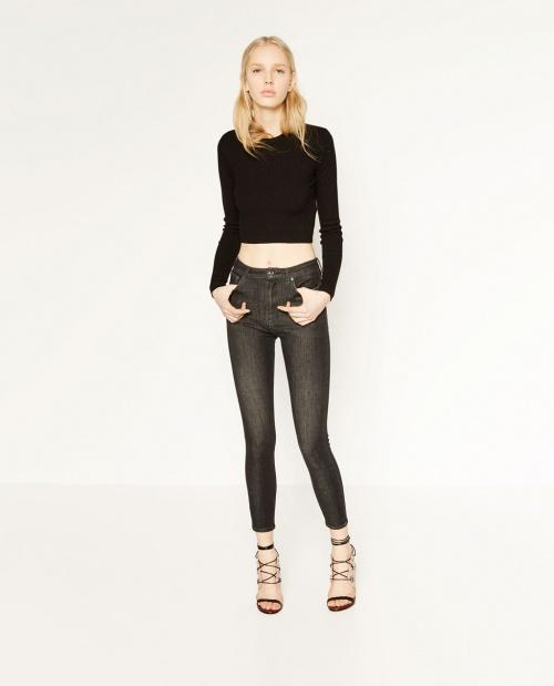 Zara jean noir délavé