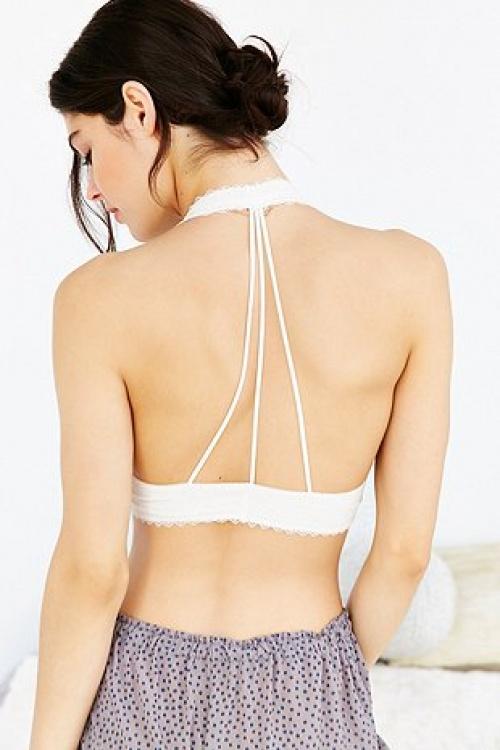 Urban Outfitters soutien gorge triple bretelles dos blanc