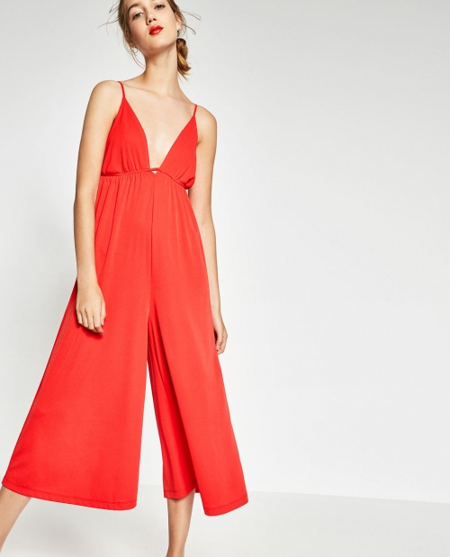 Zara - Combinaison  ample rouge