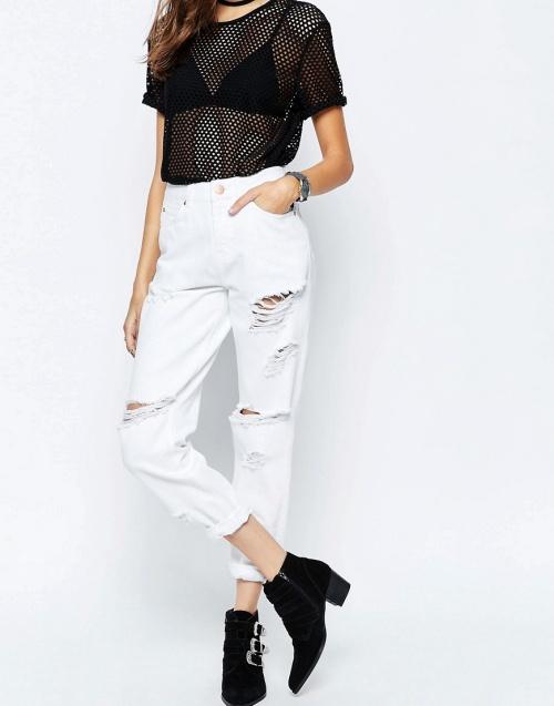 Asos jean blanc arraché