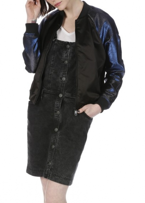 The Kooples bombers bleu nuit satiné