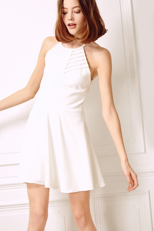 Les Petites robe blanche texture patineuse