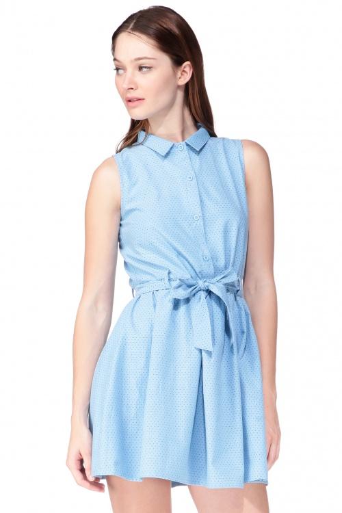 Kling robe patineuse chemise bleu