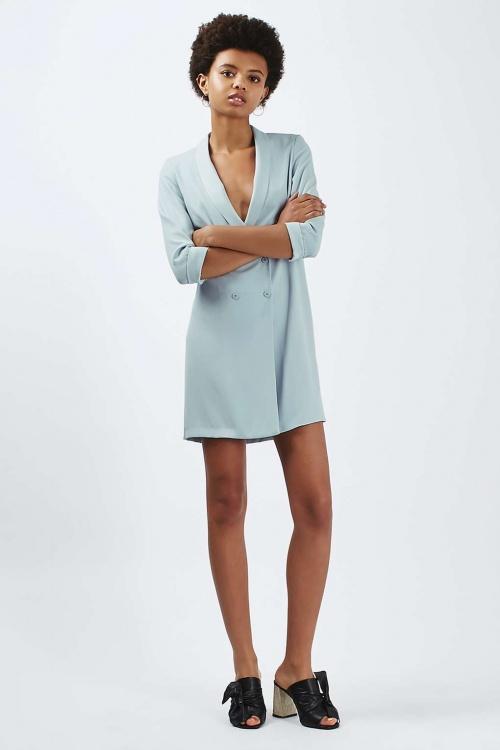 Topshop robe blazer bleue ciel