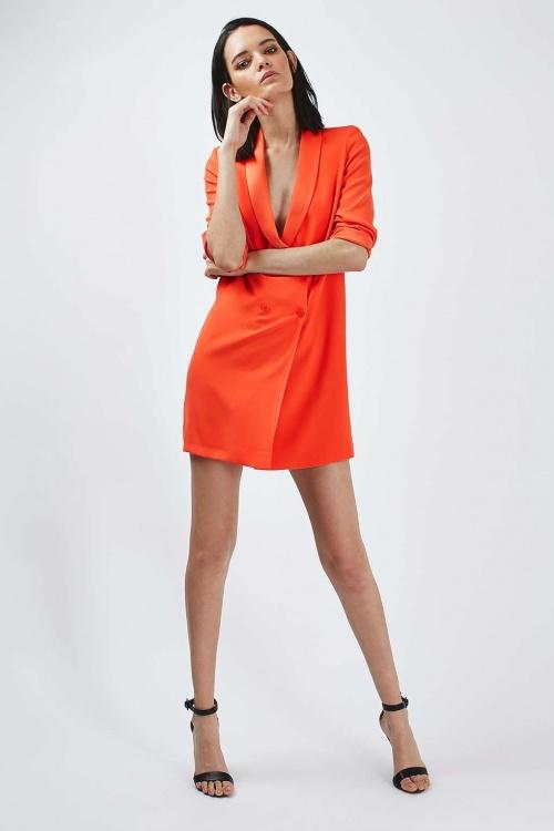 Topshop robe blazer orange