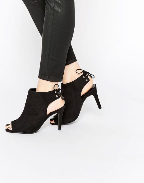 New Look sandales ouvertes mules noir daim