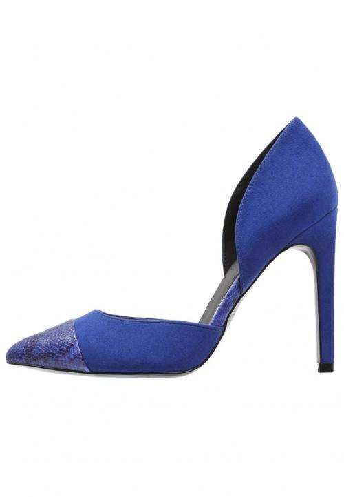 Even&Odd escarpins bleu electrique serpent