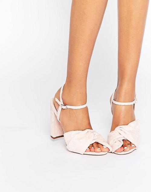 Asos sandales noeud rose pale