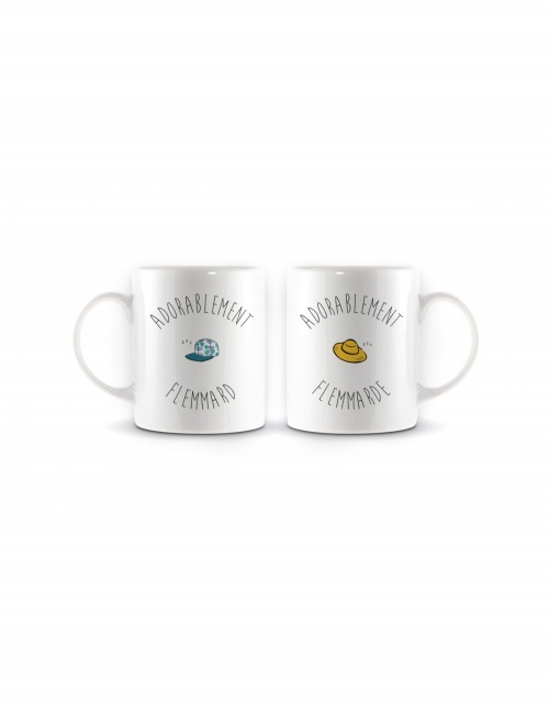 The Tops x Meetic - Duo mugs couple de flemmards