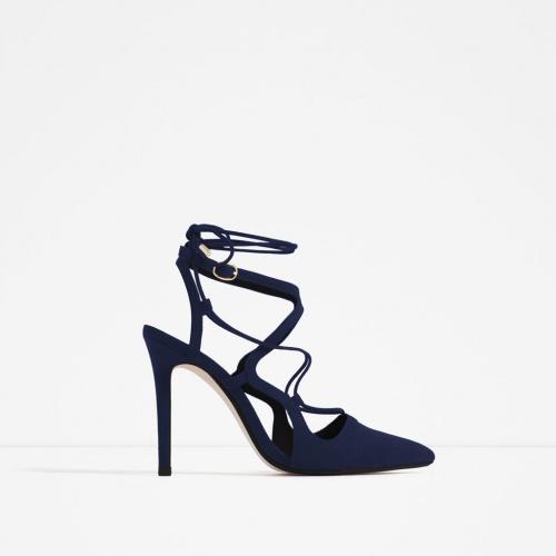 Zara escarpins bleu nuit lactes
