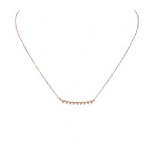 Zag Bijoux - Collier pic or rose