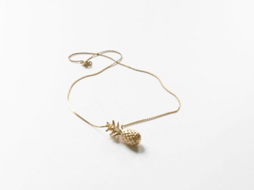 BijouxAddict - Collier ananas or
