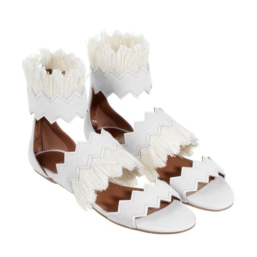 Alaia - Sandales blanches