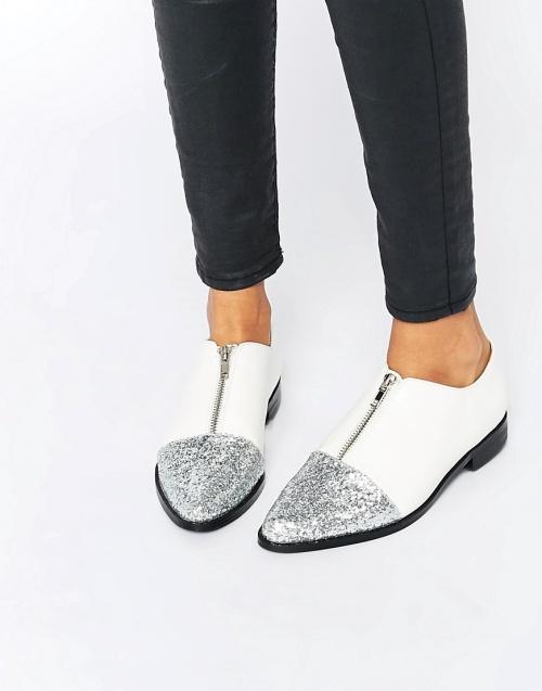Asos - Chaussures plates  blanches pailletées