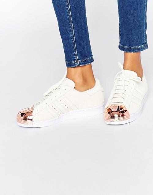Adidas Originals - Superstar blanche rose