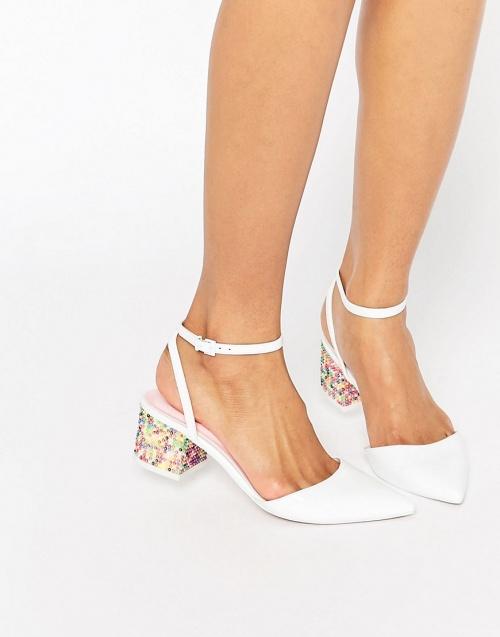Asos - Chaussures à talons blanche