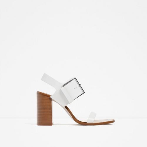 Zara - Sandales blanches