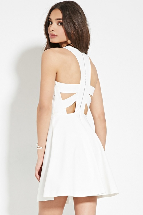 Forever 21 - Robe dos nu blanche