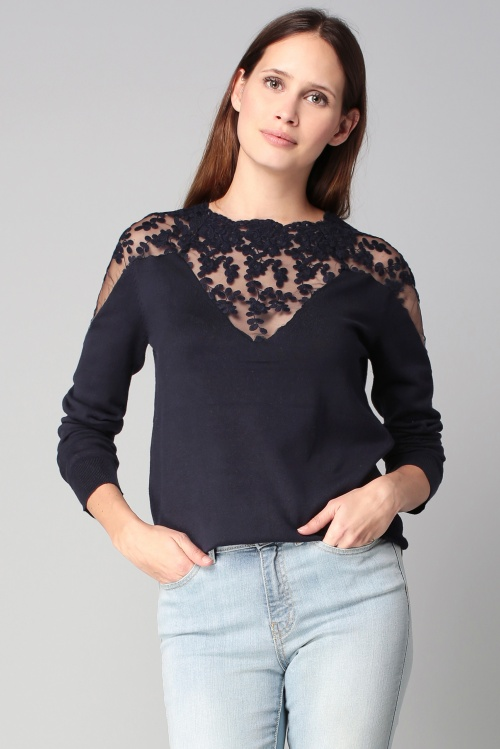 Vero Moda sweat dentelle