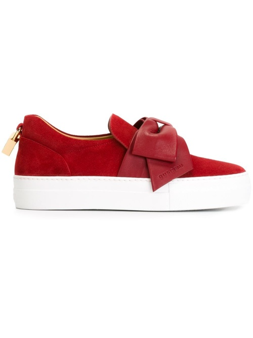 Buscemi - Slip on rouge noeud et cadenas