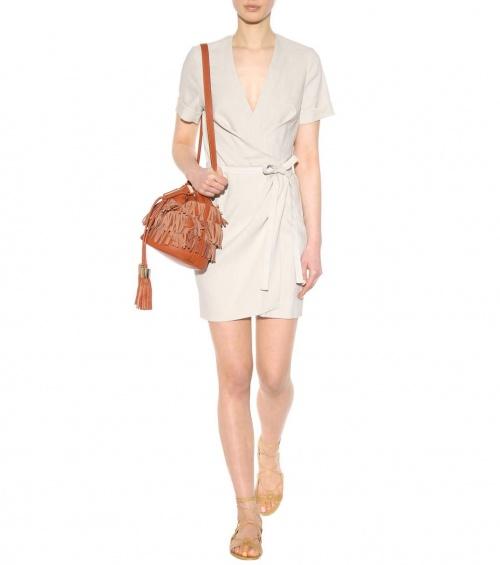Isabel Marant robe portefeuille neutre