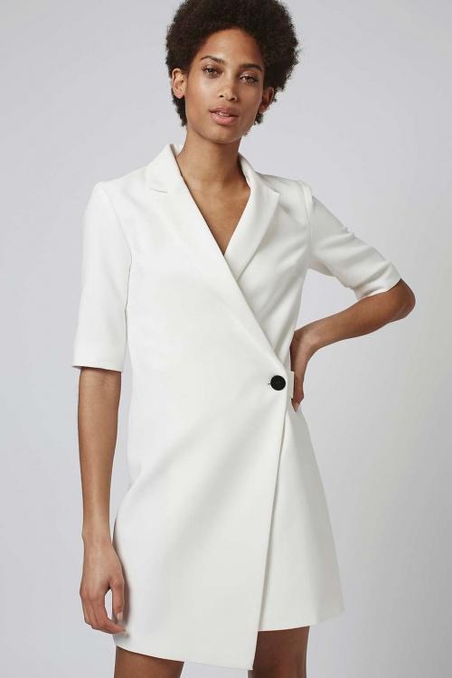Topshop  robe blazer portefeuille blanche