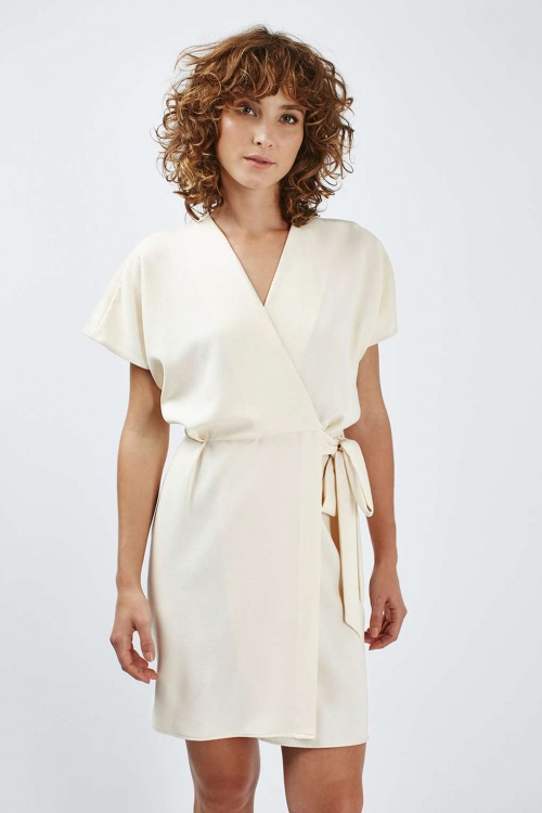 Topshop robe porte feuille écrue