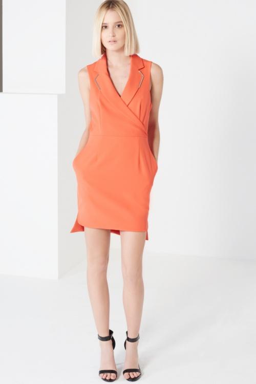 Lavish Alice robe portefeuille orange dos ouvert