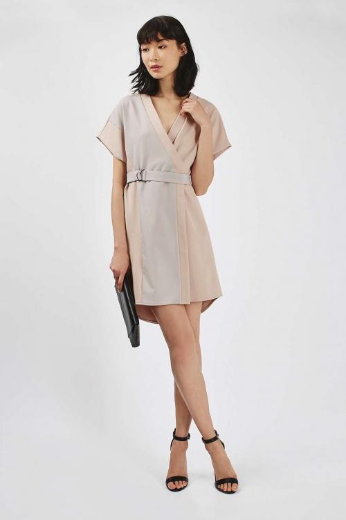 Topshop  robe portefeuille bicolore