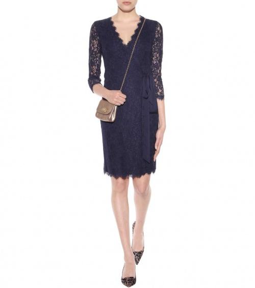 Diane von Furstenberg robe portefeuille dentelle