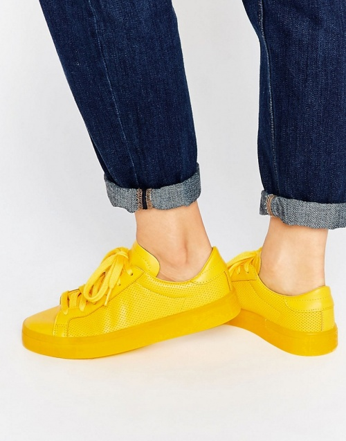 Adidas Originals baskets jaunes vif