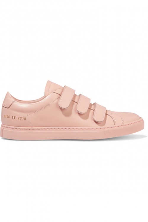 Common Projects baskets unies rose pâles