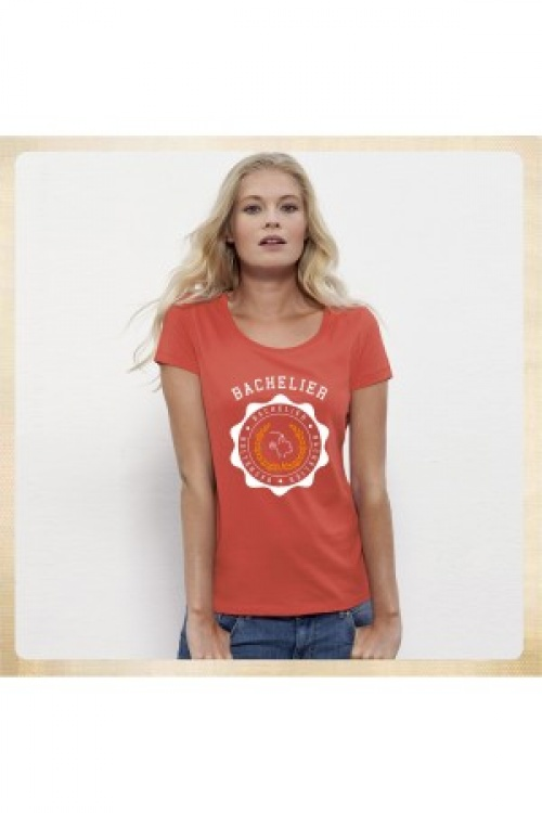Bachelier t-shirt orange bachelière