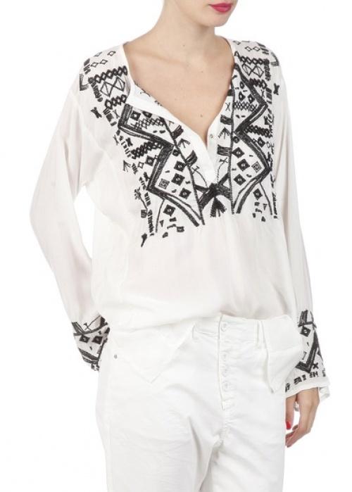 Sack s blouse ethnique brodée