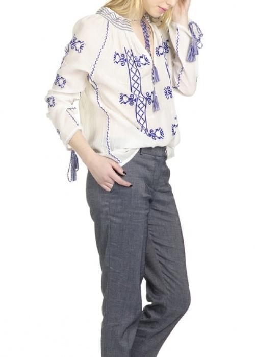 Christophe Sauvat  blouse brodée ample