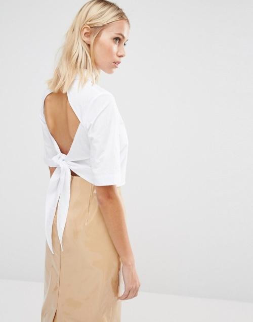 Fashion Union - Top découpe dos noeud