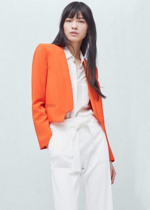Mango veste courte blazer orange