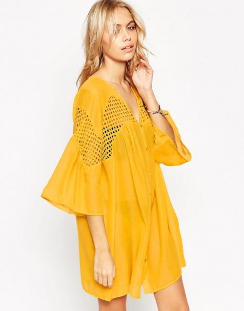 Asos robe de plage jaune