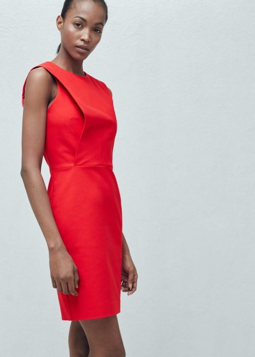 Mango robe rouge plastron
