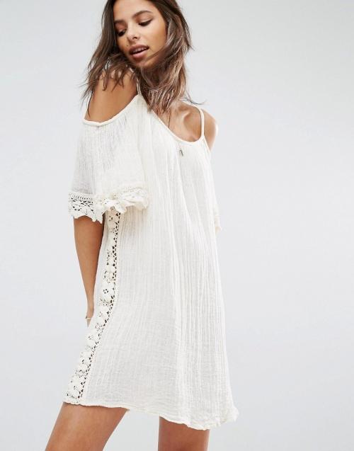 Jen's Pirate robe de plage crochet blanche