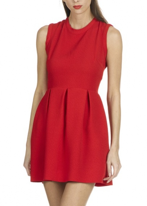 Sandro  robe rouge patineuse