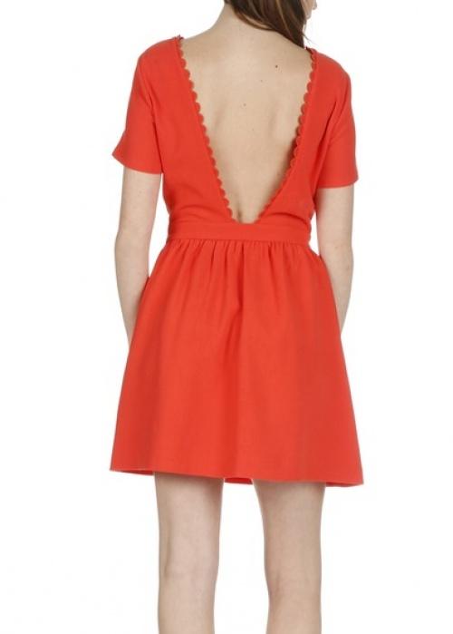 Sunco  robe rouge décolleté dos ouvert V