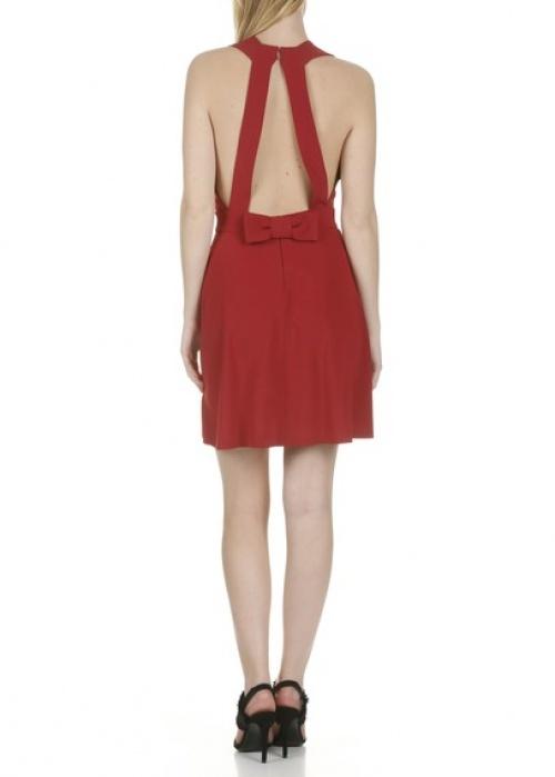 Claudie Pierlot robe rouge dos nu noeud