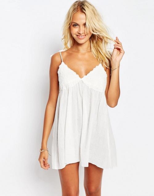 Asos robe de plage blanche