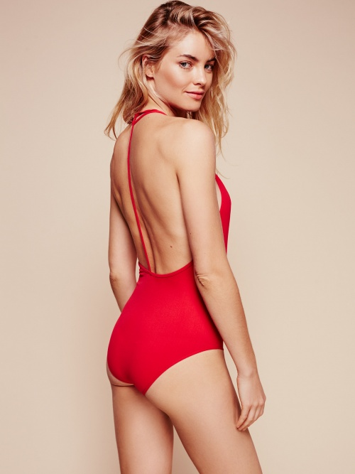 Free People body rouge dos nu