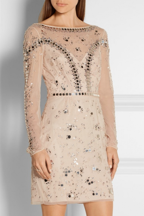 Temperley London - Robe brodé courte