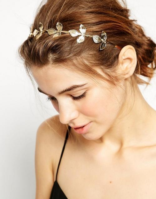 Asos headband feuilles dorées