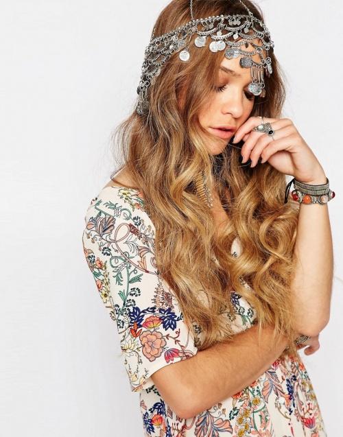 Glamorous headband argentés pièces