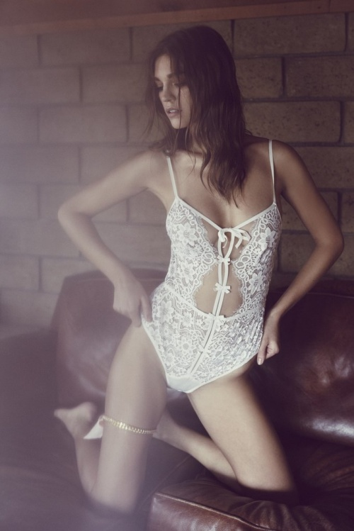 For Love & Lemons - Body dentelle blanc