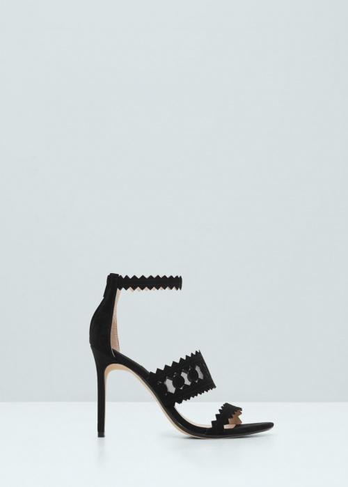 Mango noire chaussure talons